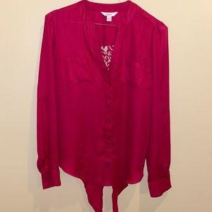 Crimson Candie's Button Up Blouse